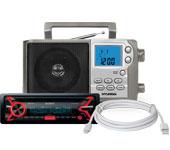 Радиоприемники, кабели, зарядки
