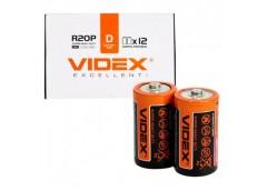 батарейка Videx R20  1x2 кор.  (24/288)