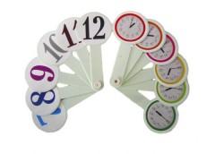 веер цифры +  часы пластмассовый  (150)