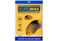 бум. офис. цв. Buromax  А4/80гр./50л. Neon оранжевый  ВМ.2721550-11  (60)
