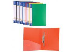 папка Economix E31212 с длин. бок. зажимом пласт. А4  (clip BL)  (20)
