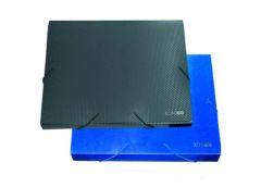 папка Economix E31402 бокс на рез. 4см. пласт. А4  (20)