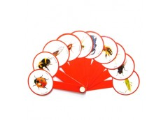 веер насекомых пластмассовый  (160)