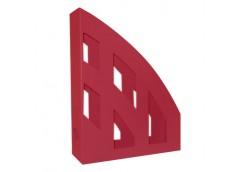 лоток для бумаг вертик. ЛВ-01 пластмас. на 1отд. (КИП) темно-красный  (14)