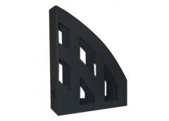 лоток для бумаг вертик. ЛВ-01 пластмас. на 1отд. (КИП) черный  (14)