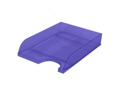 лоток для бумаг горизонт. ЛГ-04 пластмас. на 1отд. (КИП) синий  (16)