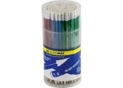 карандаш простой Buromax  ассорти металлик, с рез., в тубе ТМ  ВМ.8507  (100/600...