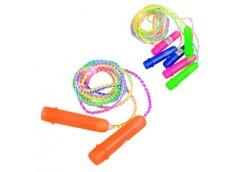 скакалки 265см., веревка резина, пластиков. ручки  MS 0183  (10/600)