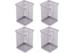 стакан для ручек J.Otten металлич. 8х8х9,5см. квадратн. серебр.  3545S  (12/96)