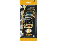 станок для бритья BIC 3 Action набор  4шт., цена за набор