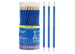 карандаш простой Buromax  пластиков., син. корпус, с рез., в тубе ТМ  ВМ.8514  (...