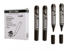 маркер Buromax  перман. водостойкий черный  ВМ.8703-01  (12/144/864)
