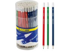 карандаш простой Buromax  асс-ти цветов корпуса, с рез., в тубе ТМ  ВМ.8501  (10...
