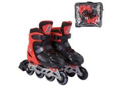 ролики Best Roller колеса PVC 6,5см. (пер.-свет), разм. 30-33, в сумке, красн.  ...