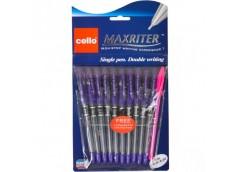 ручка Cello Maxriter масл. фиолет. (10/100/600/2400)