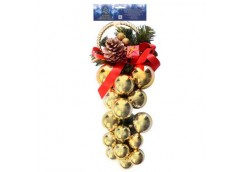 декор новогодний Виноград 16х29см.  8747  (72)