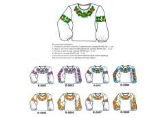 заготовка для вышивки женской сорочки бисером  BS000