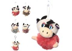 мягкая игрушка корова 9см. на присовке 14см., в кул. 9х9х6см.  МР 2155  (200)