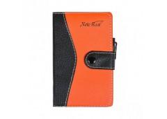 блокнот 5960  14,5х8,5см. на кнопке с ручкой, обл. - кожзам, блок в клетку  (204...