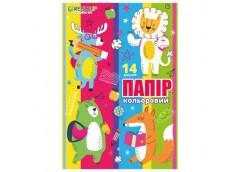 цв. бумага Fresh  А4/14л./7цв. в рукаве  FR-0014-7  (50/400)