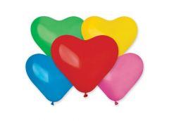 шар Италия CR80 сердце микс цветов 25см./10
