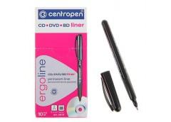 маркер Centropen 4616 для CD/DVD черн.  0,6мм. треуг. корпус  (10/1000)