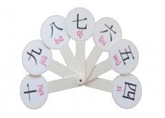веер цифр с китайской транскрипцией пластмассовый