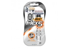 станок для бритья BIC Flex 5 набор 3шт., цена за набор