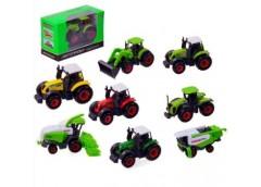 комбайн + трактор Автопром метал., 1:50, в кор. 10,5х4,5х7см.  7805  (96/192)