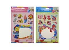 наклейки объёмные детские с полем для рисования  SK (А 84) (10/1200)
