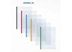 папка Economix E31261 с бок. планкой-прижимом пласт. 10мм. 2-65листов А5  (5/180...