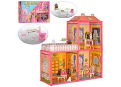 домик для куклы 63х51,5х70см., фигурка, 2 этажа в кор. 60х34х7,5см.  6984  (12)