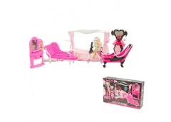 мебель спальня + кукла шарнирная 26см., аксессуары в кор. 53х32х11см.  66536  (1...