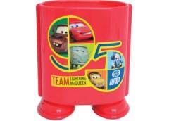 стакан для ручек 1Вересня пластмасовый одинарный CR красный  470233  (30/300)