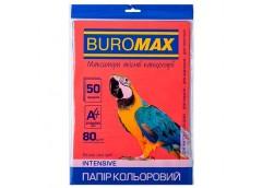 бум. офис. цв. Buromax  А4/80гр./50л. Intensiv красный  ВМ.2721350-05  (60)