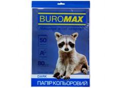 бум. офис. цв. Buromax  А4/80гр./50л. Dark темно-синий  ВМ.2721450-02  (60)