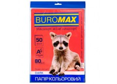 бум. офис. цв. Buromax  А4/80гр./50л. Dark бордовый  ВМ.2721450-13  (60)