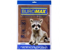 бум. офис. цв. Buromax  А4/80гр./50л. Dark коричневый  ВМ.2721450-25  (60)