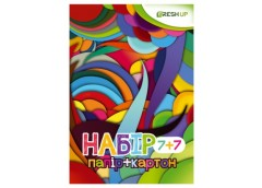 набор цв. бумага + картон Fresh  А4/7+7л./по7цв.  FR-0007-7  (25/150)