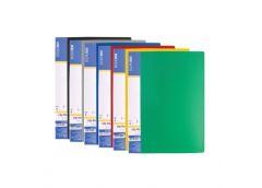 папка Economix E31222 с бок. зажимом и карманом пласт. А5  (clip В)  (20)