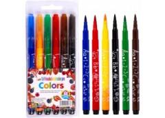 фломастеры Colors  6цв., наконечник кисточка 1-4мм.  1818- 6  (24/384)