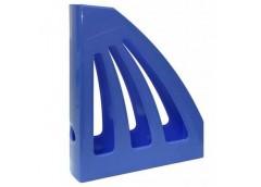 лоток для бумаг вертик. ЛВ-03 пластмас. на 1отд. (КИП) синий  (14)