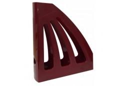 лоток для бумаг вертик. ЛВ-03 пластмас. на 1отд. (КИП) темно-красный  (14)
