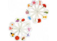 веер цветы (квіти) пластмассовый  (160)