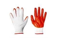 рукавицы нейлон. стрейч оранжев.  С-8-1  (12/960)
