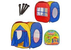 палатка куб 105х100х105см., вход с занавеской, 3 окна-сетка, в сумке  М 0507  (1...