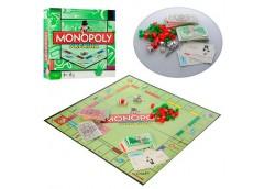 игра настольная Монополия карточки, кубики, фишки, игр. поле, в кор. 27х27х5см. ...