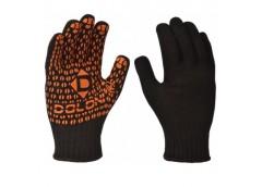 рукавицы трикотажные рабочие черн. с ПВХ, стаднарт, 7 класс  10315
