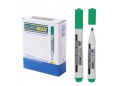маркер Buromax  для магнитных досок зеленый  ВМ.8800-04  (12/144)
