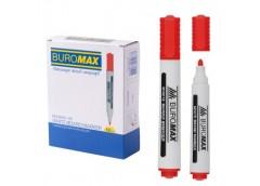 маркер Buromax  для магнитных досок красный  ВМ.8800-05  (12/144)